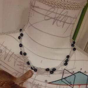 Dainty Seed Bead Pearl handed made Necklace